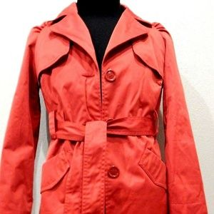 Express Women's Red Peacoat